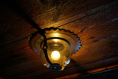 Vintage Light at Old Faithful Inn, Yellowstone National Park.