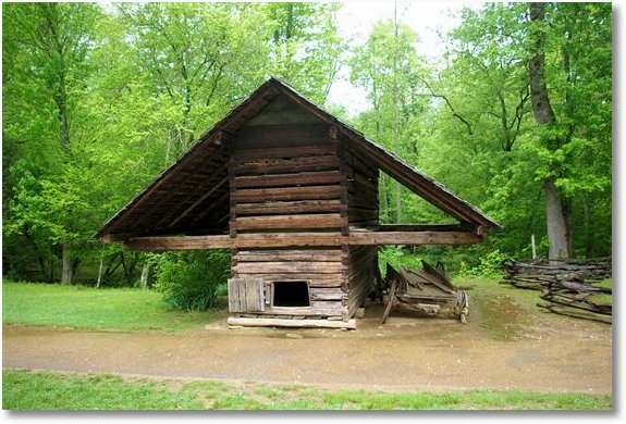great smoky mountains corn crib