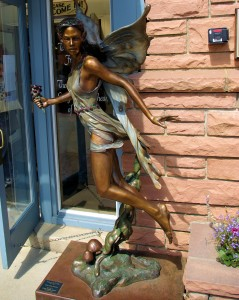 One of several bronze sculptures we saw in town